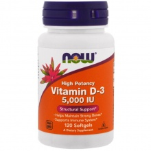 Витамины NOW Vitamin D-3 5000 IU 120 caps
