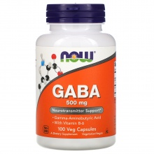 Амикислота Now Foods Gaba 500мг 100 капсул