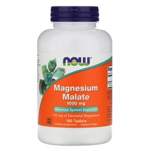 Витамины NOW Magnesium Malate 1000 mg 180 таб